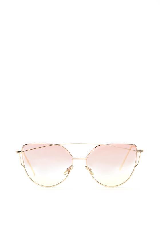 Fuksjowo-Złote Okulary Love Divine
