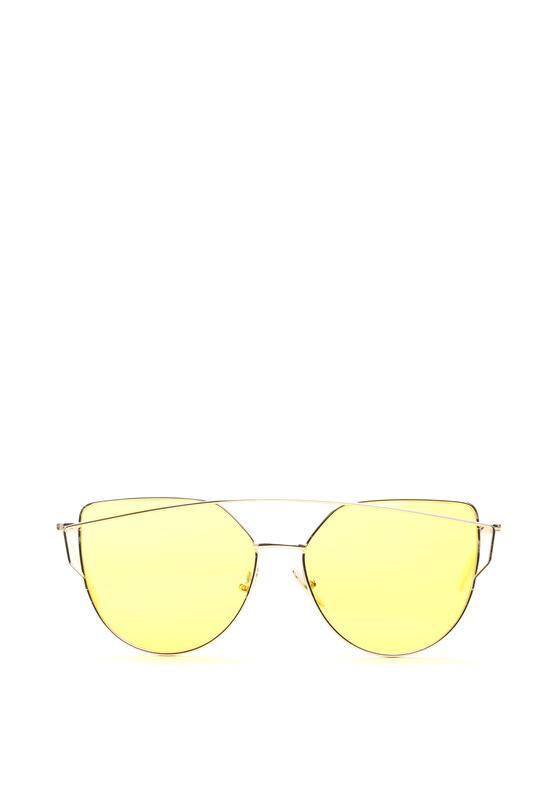 Złoto-Żółte Okulary Love Divine