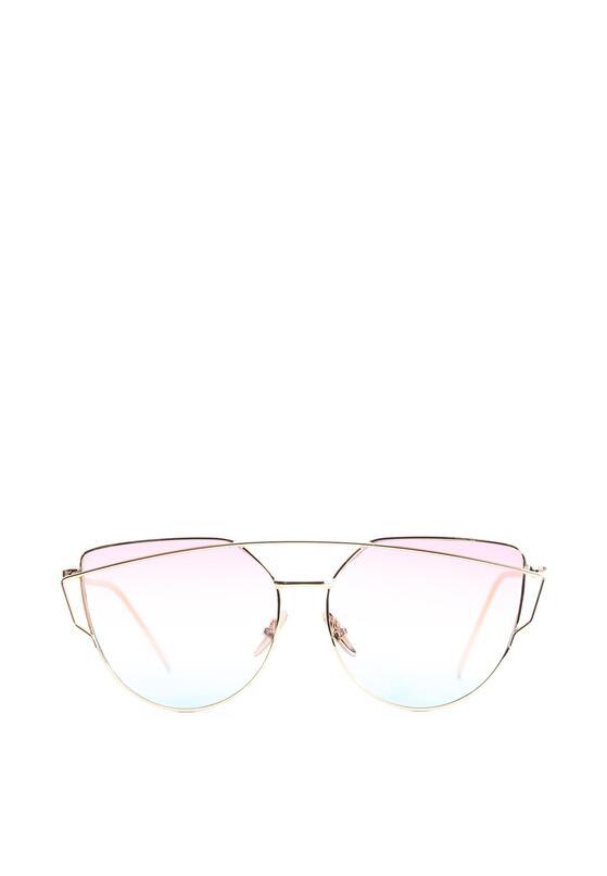 Różowo-Złote Okulary Love Divine