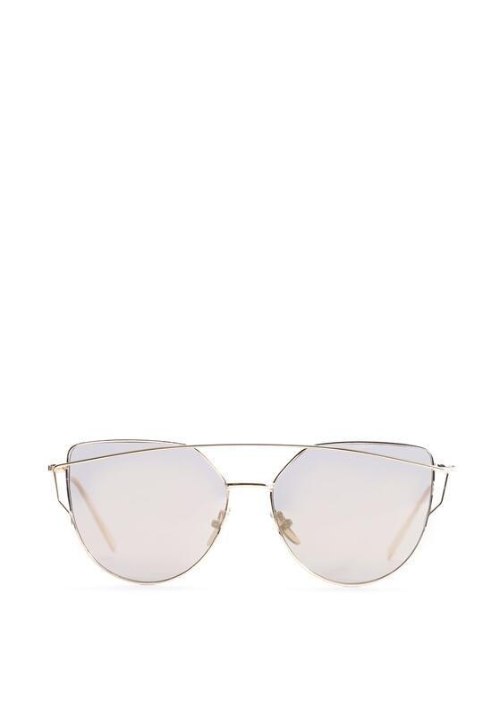 Szaro-Złote Okulary Love Divine