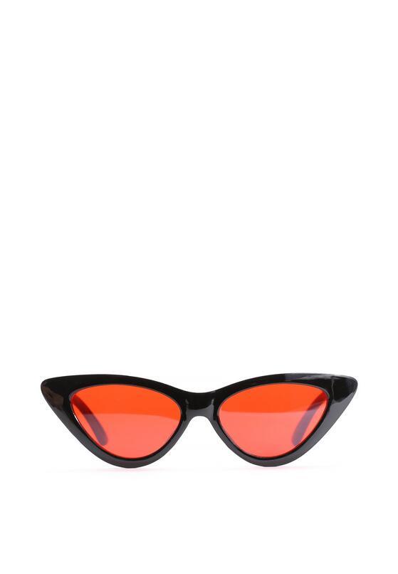 Czarno-Czerwone Okulary Helen