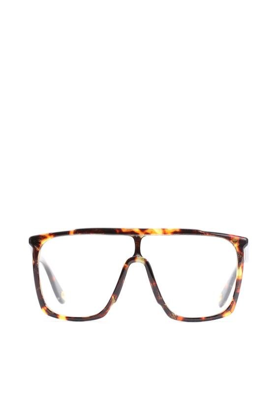 Czarno-Pomarańczowe Okulary Trish
