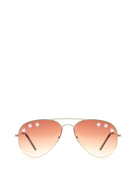 Brązowo-Złote Okulary Pleasure Girl