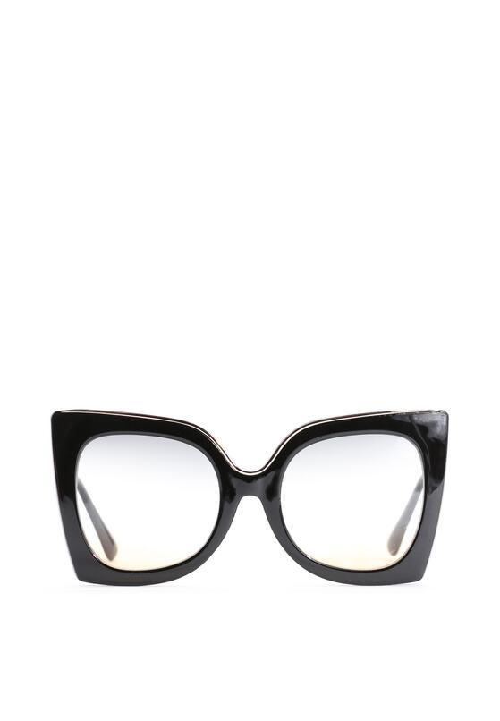 Czarno-Zielone Okulary Rosalie