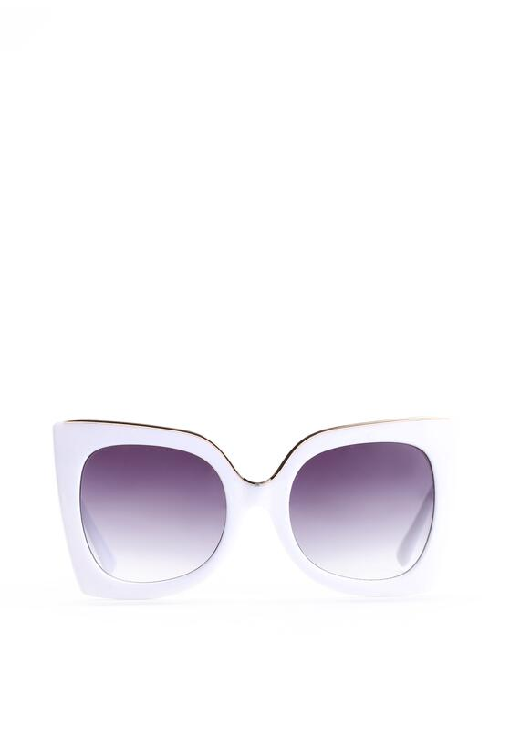Czarno-Białe Okulary Rosalie