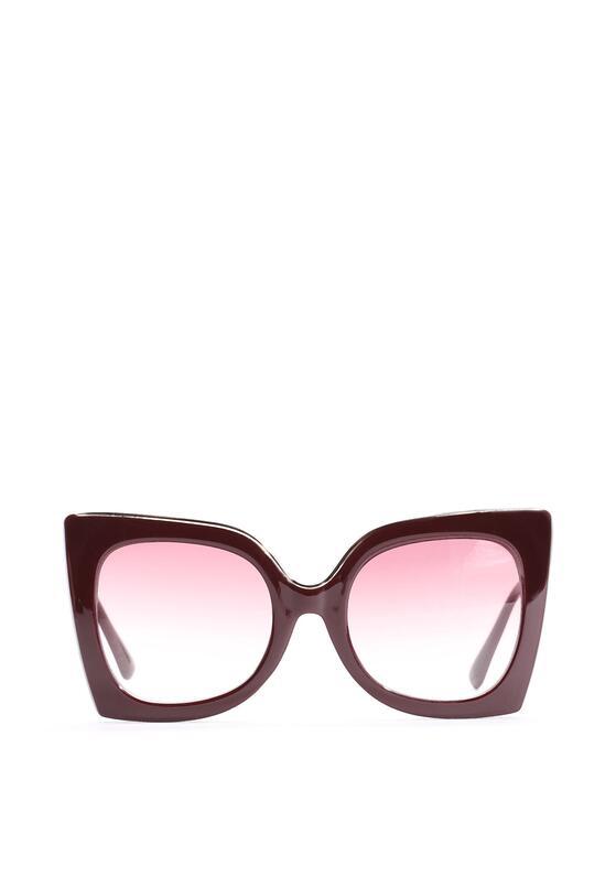 Bordowe Okulary Rosalie