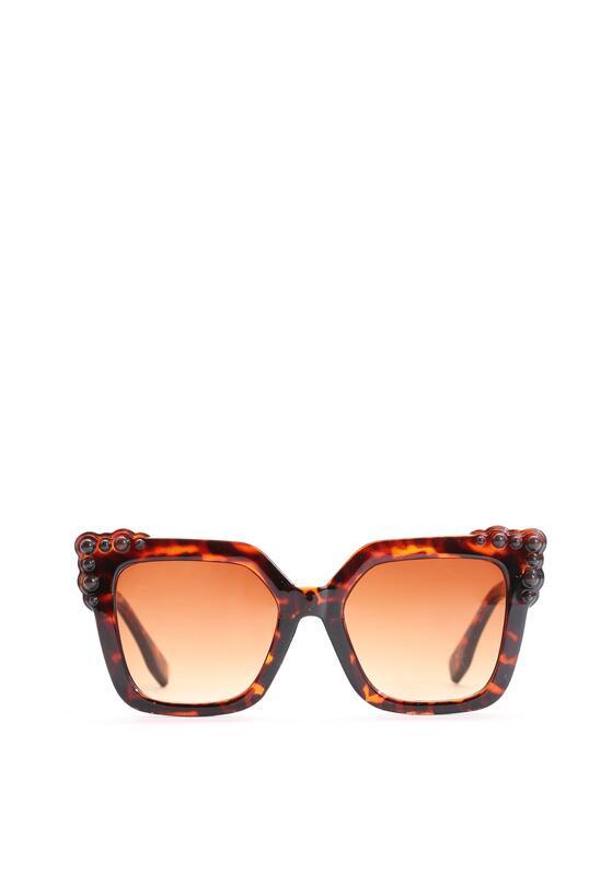 Brązowo-Pomarańczowe Okulary Maddie