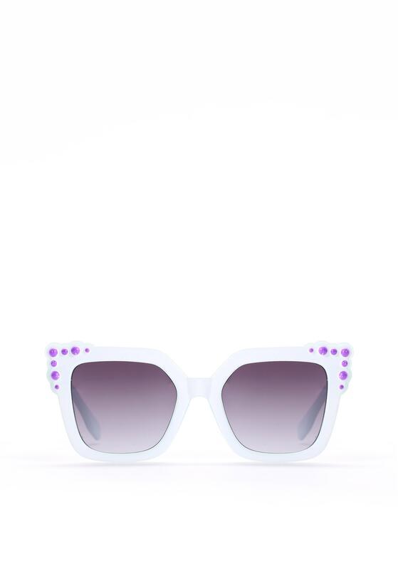 Biało-Czarne Okulary Maddie
