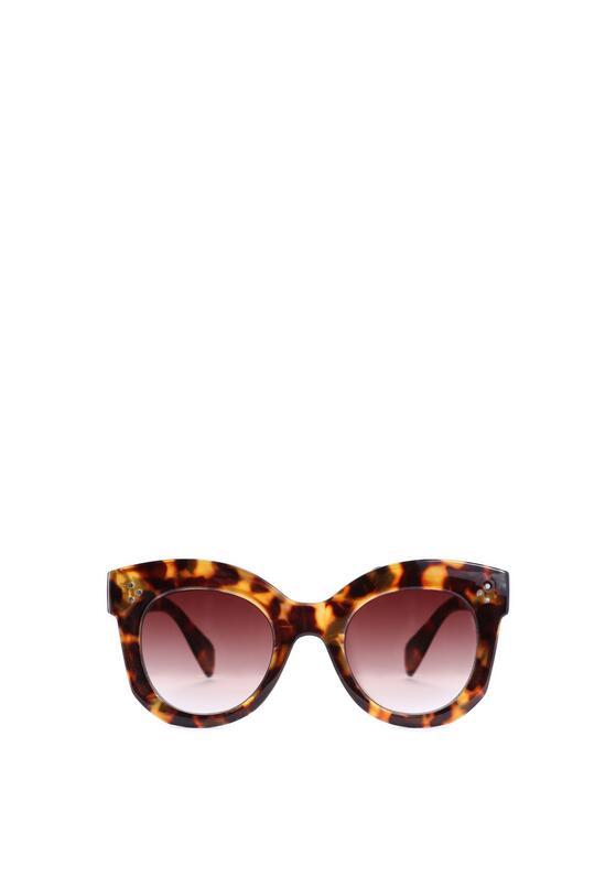 Brązowo-Pomarańczowe Okulary Annabelle
