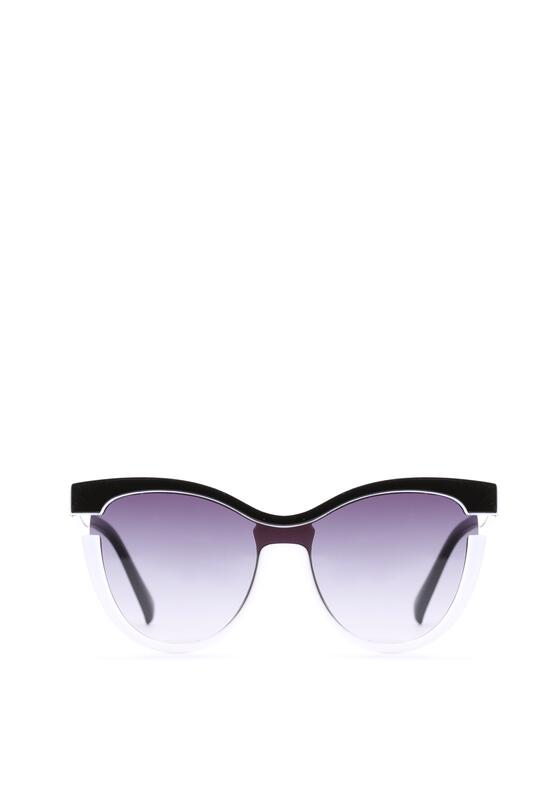Biało-Czarne Okulary Claire