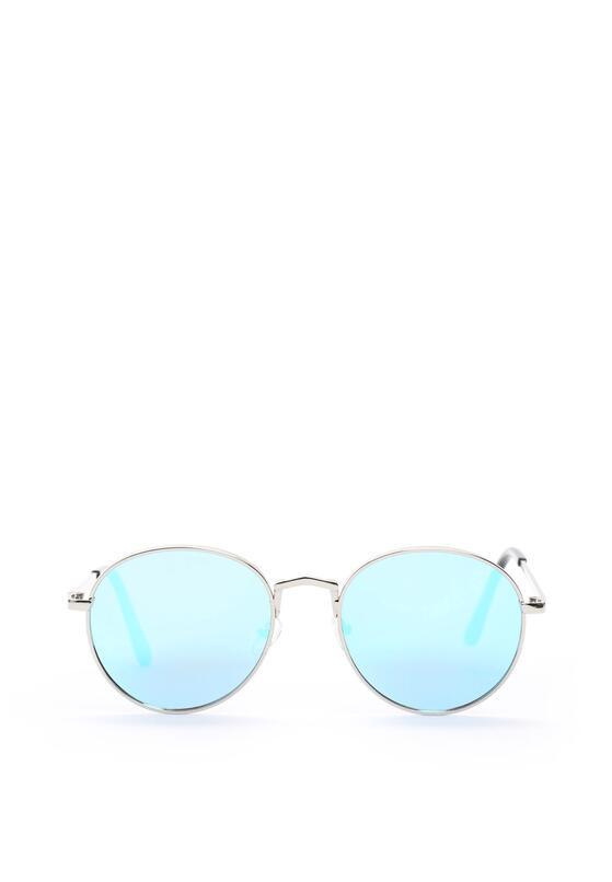Srebrno-Niebieskie Okulary Marbella
