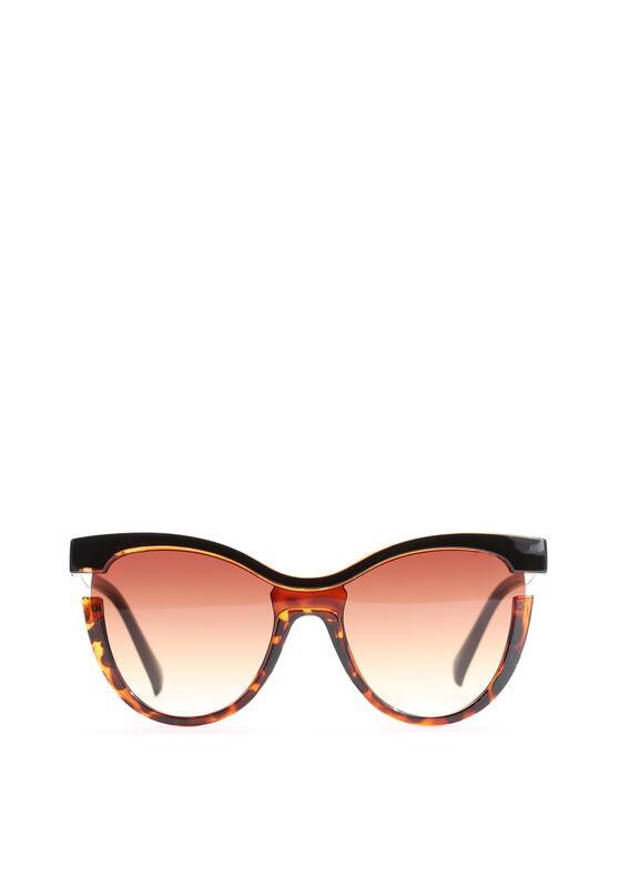 Pomarańczowo-Czarne Okulary Claire