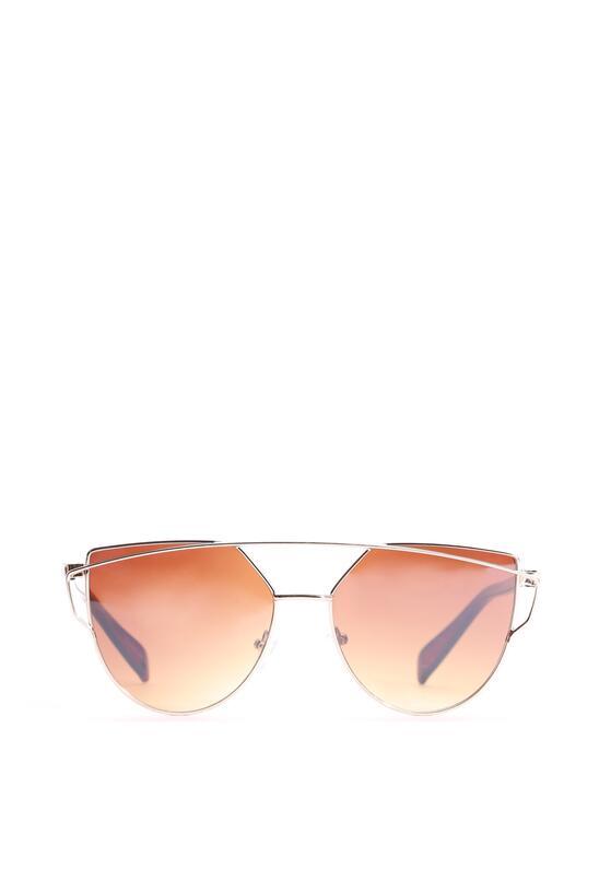 Złoto-Brązowe Okulary Magenta Madness