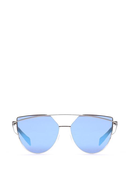 Srebrno-Niebieskie Okulary Magenta Madness