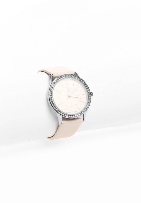 Beżowo-Srebrny Zegarek Rock This World