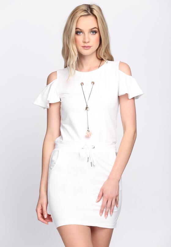 Biała Sukienka Adventurous Spirit