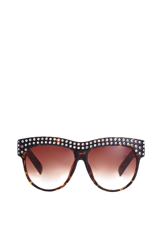 Czarno-Pomarańczowe Okulary Sweet Allure