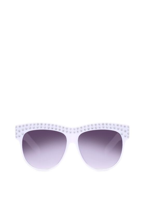 Biało-Czarne Okulary Sweet Allure