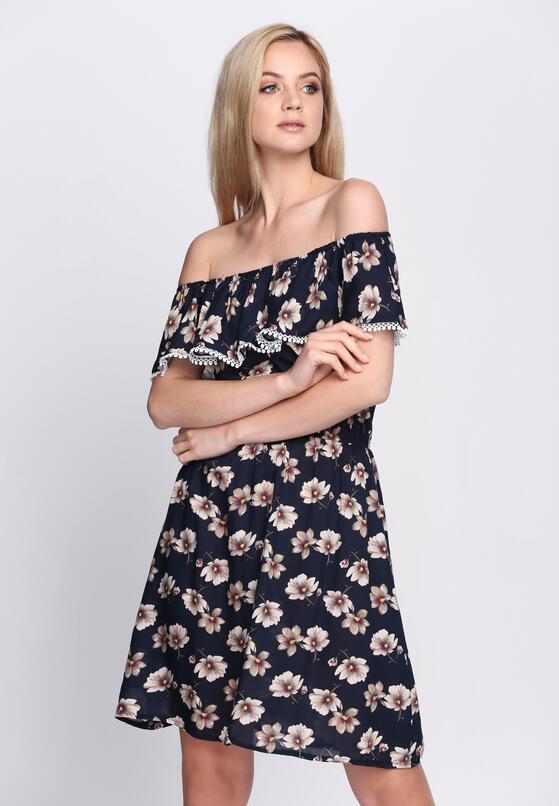 Granatowa Sukienka Sentimental Mood