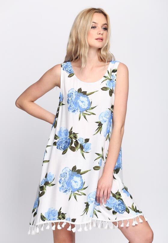 Biało-Niebieska Sukienka It's Up To You
