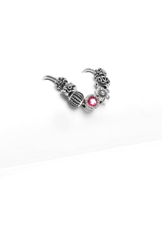 Srebrno-Różowa Bransoletka Harmony