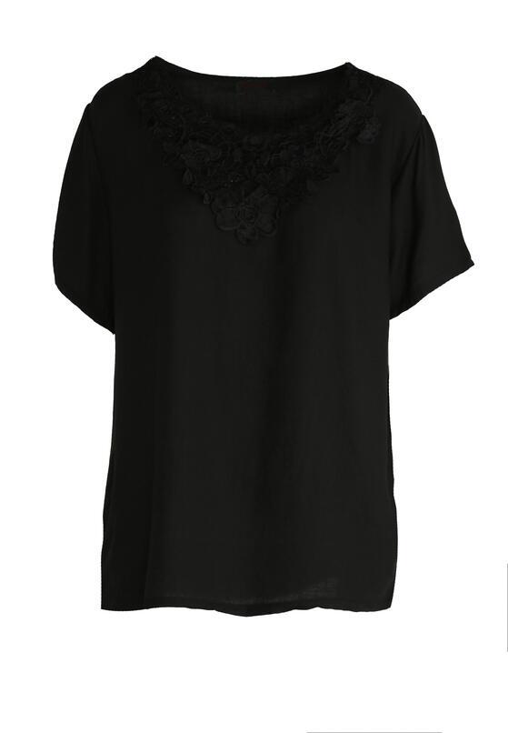 Czarny T-shirt Walking On Sunshine