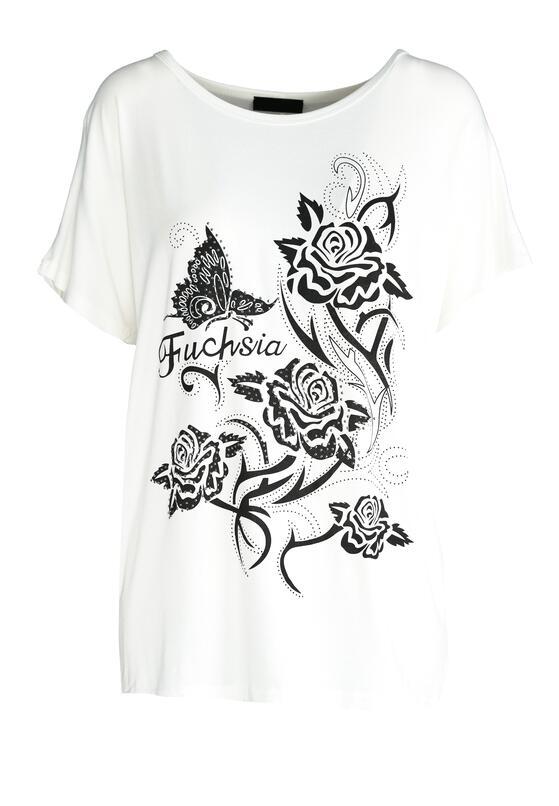 Biały T-shirt Addicted To Fashion