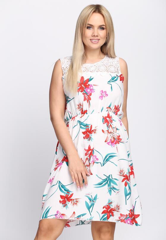 Biała Sukienka Zefi