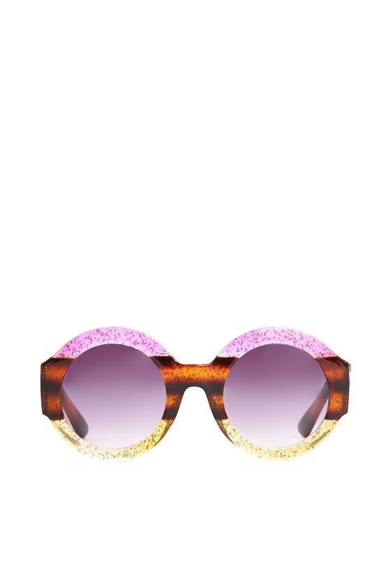 Różowo-Brązowe Okulary Purple Haze