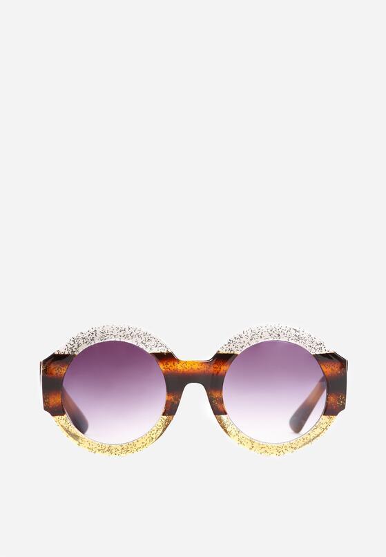 Srebrno-Żółte Okulary Purple Haze