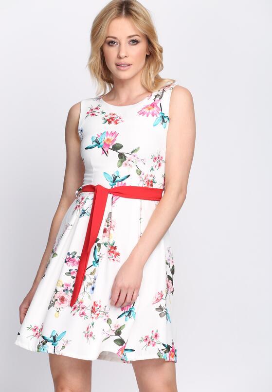Biała Sukienka Powerful Girl