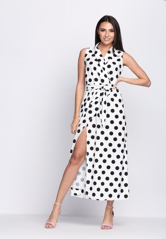 Biała Sukienka Collier