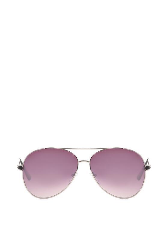 Srebrno-Czarne Okulary Chamomile