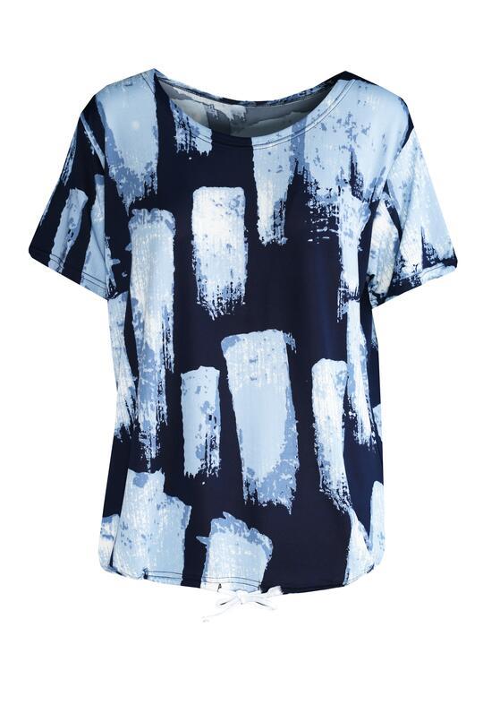 Granatowo-Niebieski T-shirt Flinty