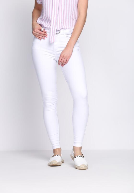 Białe Jeansy Stardust