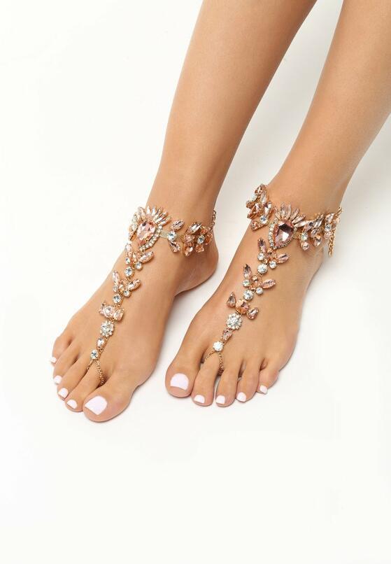Złota Biżuteria na Stopy Diamonds