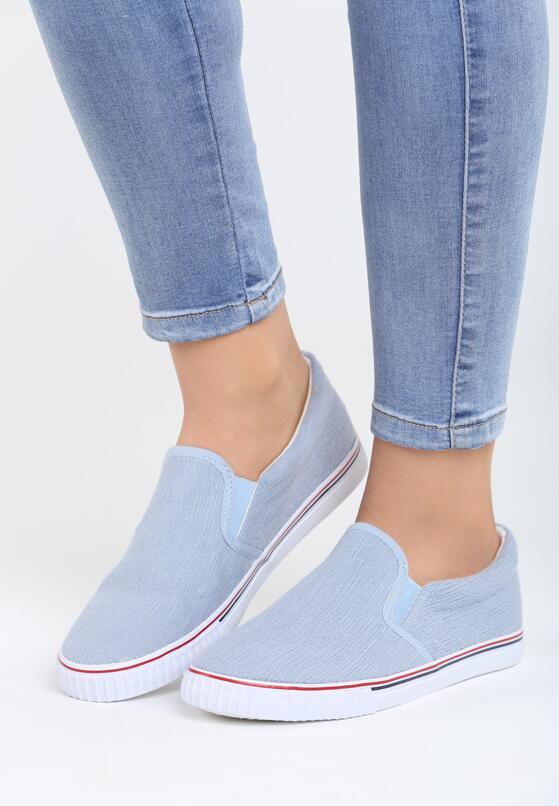 Niebieskie Slip On Lovely Lady