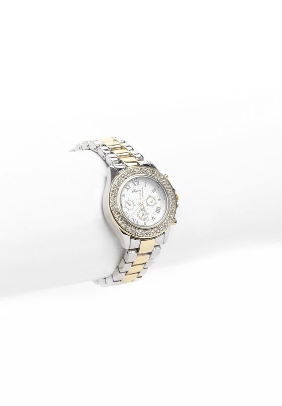 Srebrno-Złoty Zegarek Tinsel