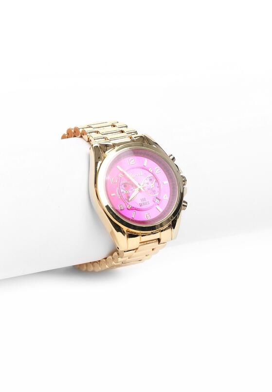 Złoto-Różowy Zegarek Trinket