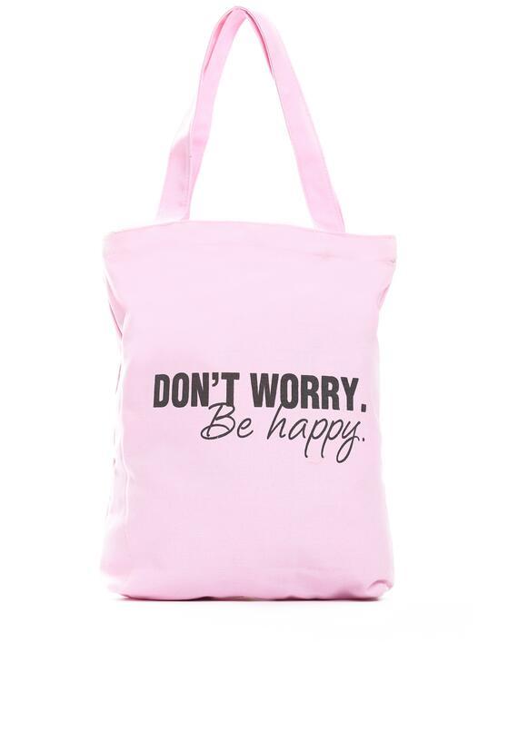 Różowa Torebka Don't Worry Be Happy