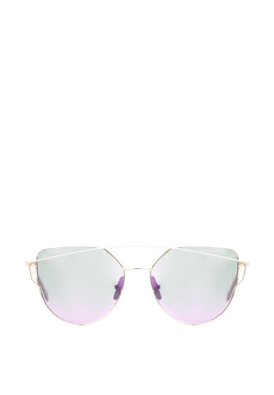 Złoto-Fioletowe Okulary Magenta Madness