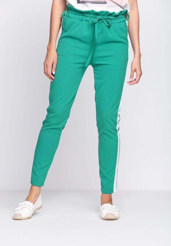 Zielone Spodnie Dresowe Two Colors