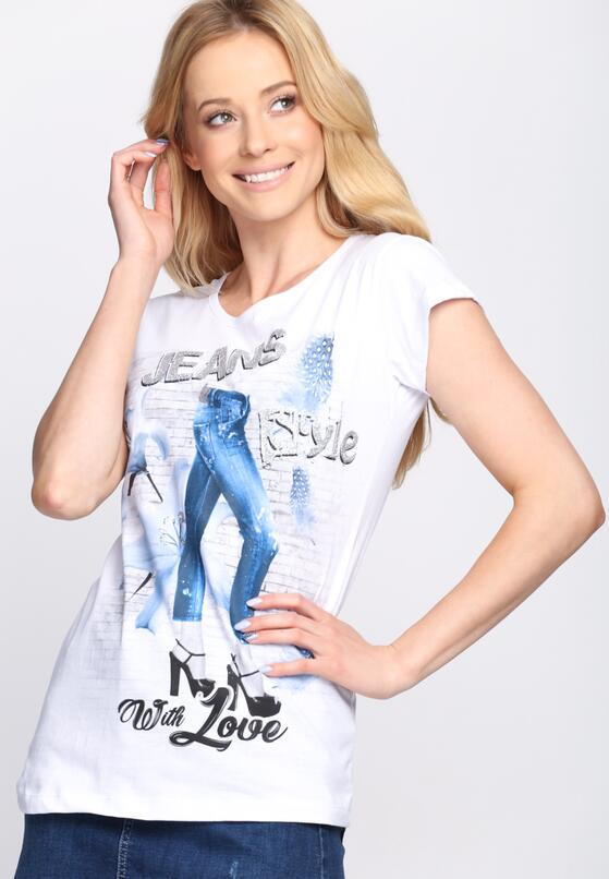 Biały T-shirt Style With Love