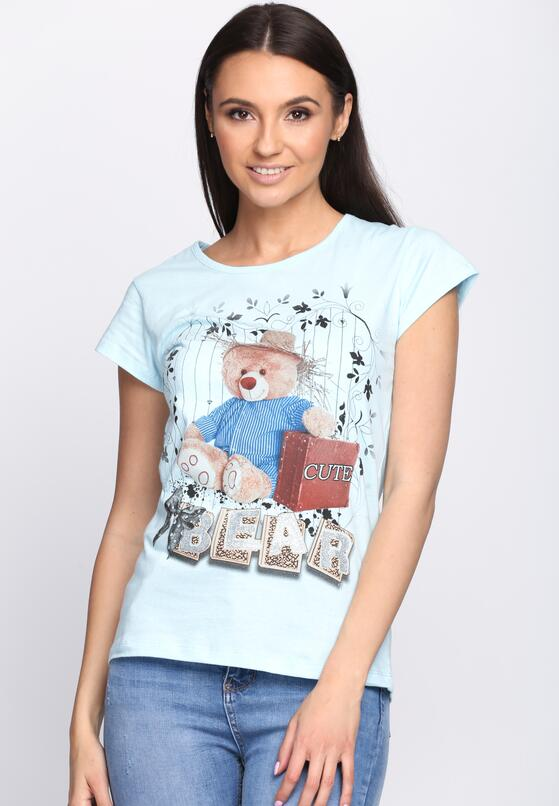 Jasnoniebieski T-shirt Cute Bear
