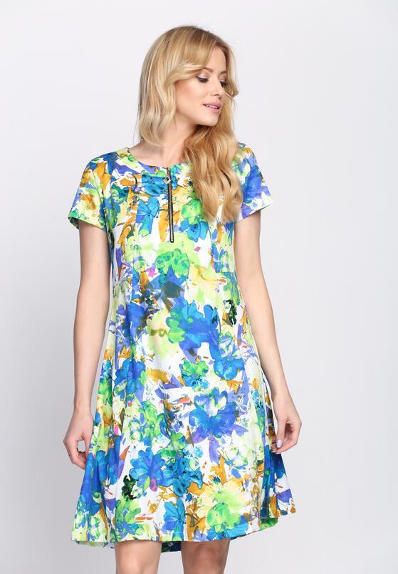 Niebiesko-Zielona Sukienka Liquorice