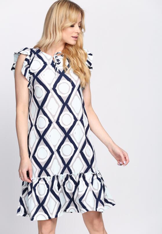 Granatowo-Niebieska Sukienka Tarragon