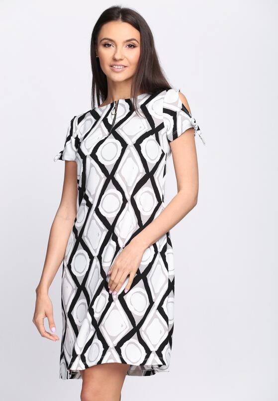 Czarno-Biała Sukienka Chicory