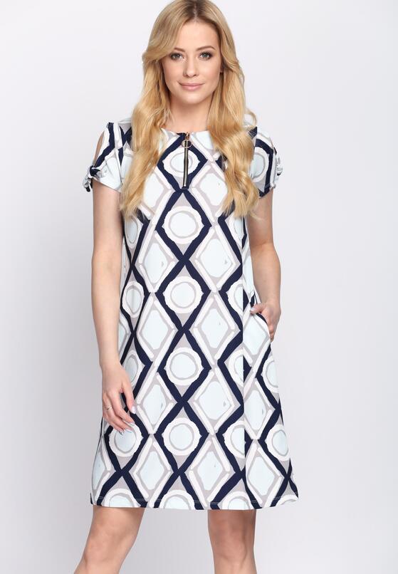 Granatowo-Niebieska Sukienka Chicory