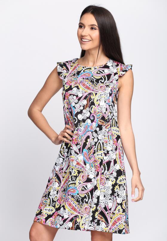 Czarno-Biała Sukienka All I Need