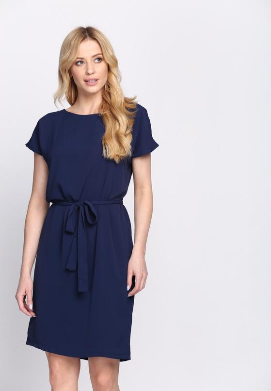 Granatowa Sukienka Glimmer